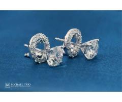 Michael Trio - Diamond Earrings